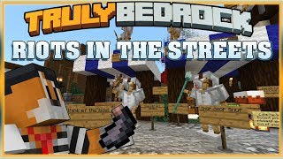 Truly Bedrock Season 1 EP27 Riots in the Streets! Minecraft Bedrock Edition SMP (MCPE, MCBE)