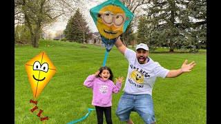Flying a Kite with Sally funtube - family fun time