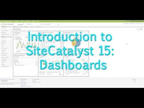 [Tutorial]: Intro to SiteCatalyst 15: Dashboards