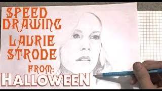 "Drawing Laurie Strode from ""Halloween"" [ Speed Drawing by Matthew Daniel Gordon ]"