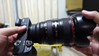 SIGMA MC-11+CANON EF24-105mm F4L IS USM & SONY a6300 追記・・・ 動...