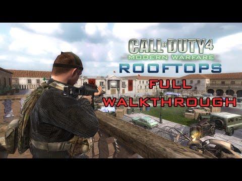 Call of Duty 4: Rooftops Full Walkthrough