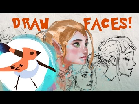 Drawing Faces Tutorial - Female Proportions! thumbnail