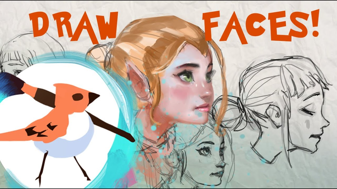 drawing faces tutorial female proportions youtube