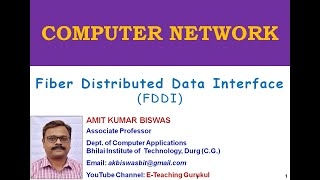 FDDI in hindi by AMIT KUMAR BISWAS | Fiber Distributed Data Interface | computer network  | 2019
