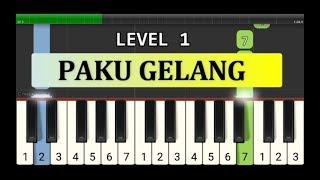 not piano paku gelang - tutorial level 1 - not pianika lagu tradisional - sumatra barat