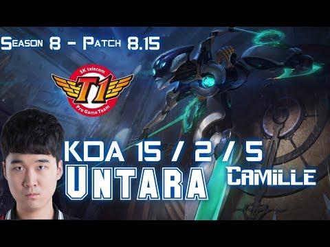 SKT T1 Untara CAMILLE vs DARIUS Top - Patch 8.15 KR Ranked