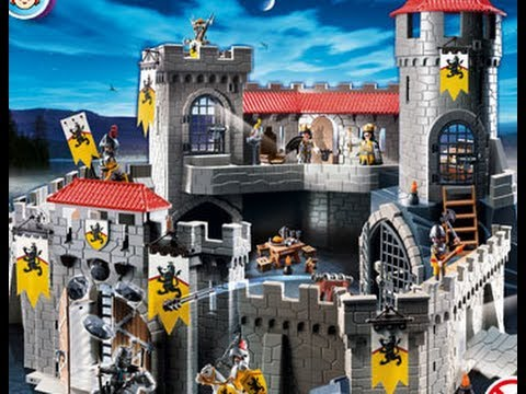 Playmobil chevaliers knights youtube for Plan chateau fort playmobil