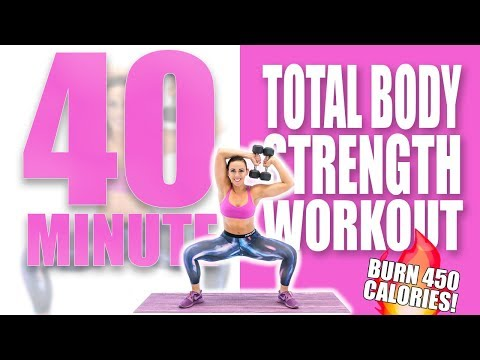 40 Minute Total Body Strength Workout 🔥Burn 450 Calories! 🔥S