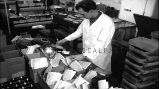 The polio medicine being prepared and tested in a Cutter laboratory in Berkeley,C...HD Stock Footage