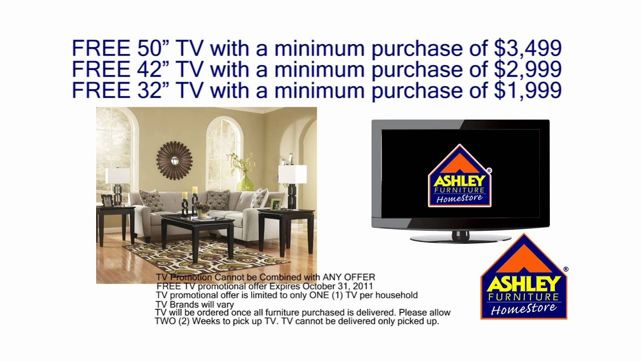 Ashley Furniture: FREE TV - YouTube