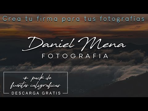 How to create my photographer signature + Free fonts download   Photographer logo with Photoshop