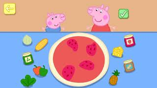 Peppa Pig and George Make Lots of Pizza
