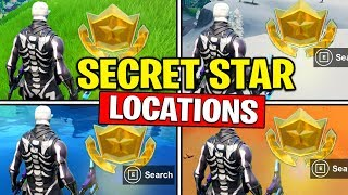 ALL SECRET BATTLE STARS Saison 10 - Fortnite Week 1 to Week 6 Emplacements (SEASON X)