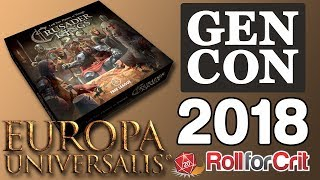 Crusader Kings + Europa Universalis Board Game Impressions | Gen Con 2018
