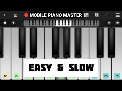 Tere Sang Pyar Mai(Slow & Easy)Piano Tutorial|Piano Keyboard|Piano Lessons|Piano Music|learn piano