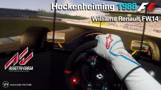 F1 Classics | Hockenheim 1988 | Williams Renault FW14 1991 VIDEO HISTORICO | Assetto Corsa HD 1080p