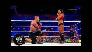 John Cena kissing Nikki Bella