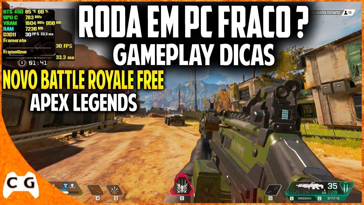 Apex Legends Roda Em PC Fraco ? Novo Battle Royale Grátis - Gameplay Teste