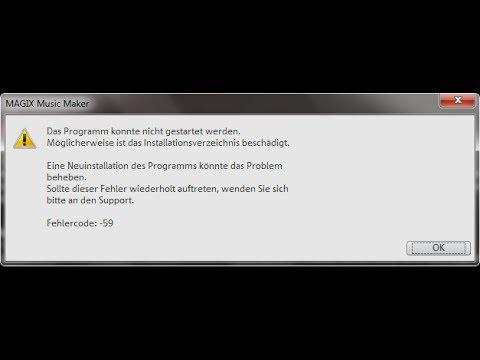 Magix Music Maker 2014 Fehler: Das Programm konnte nicht gestartet werden. (Steam) - Lösung