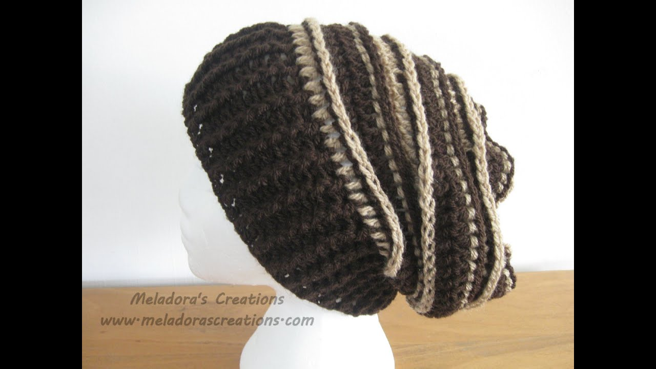 Riptide Slouch Hat - Crochet Tutorial - YouTube