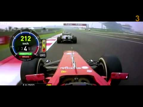 Formula 1 2013   Top 5 Overtakes of the season