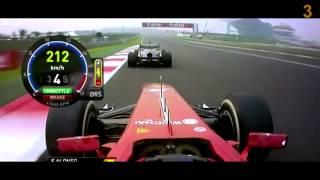 Formula 1 2013   Top 5 Overtakes of the season