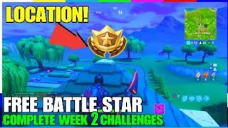 LOCATION! HIDDEN BATTLE STAR! FORTNITE WEEK 2 CHALLENGES! *FREE TIER* [S5]