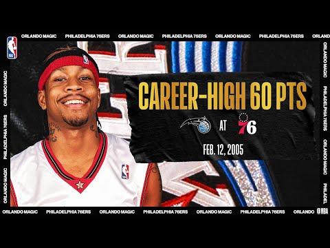 Allen Iverson Drops Career-high 60 PTS | Magic @ 76ers | Feb. 12, 2005 | #NBATogetherLive