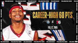Allen Iverson Drops Career-High 60 PTS | #NBATogetherLive Classic Game