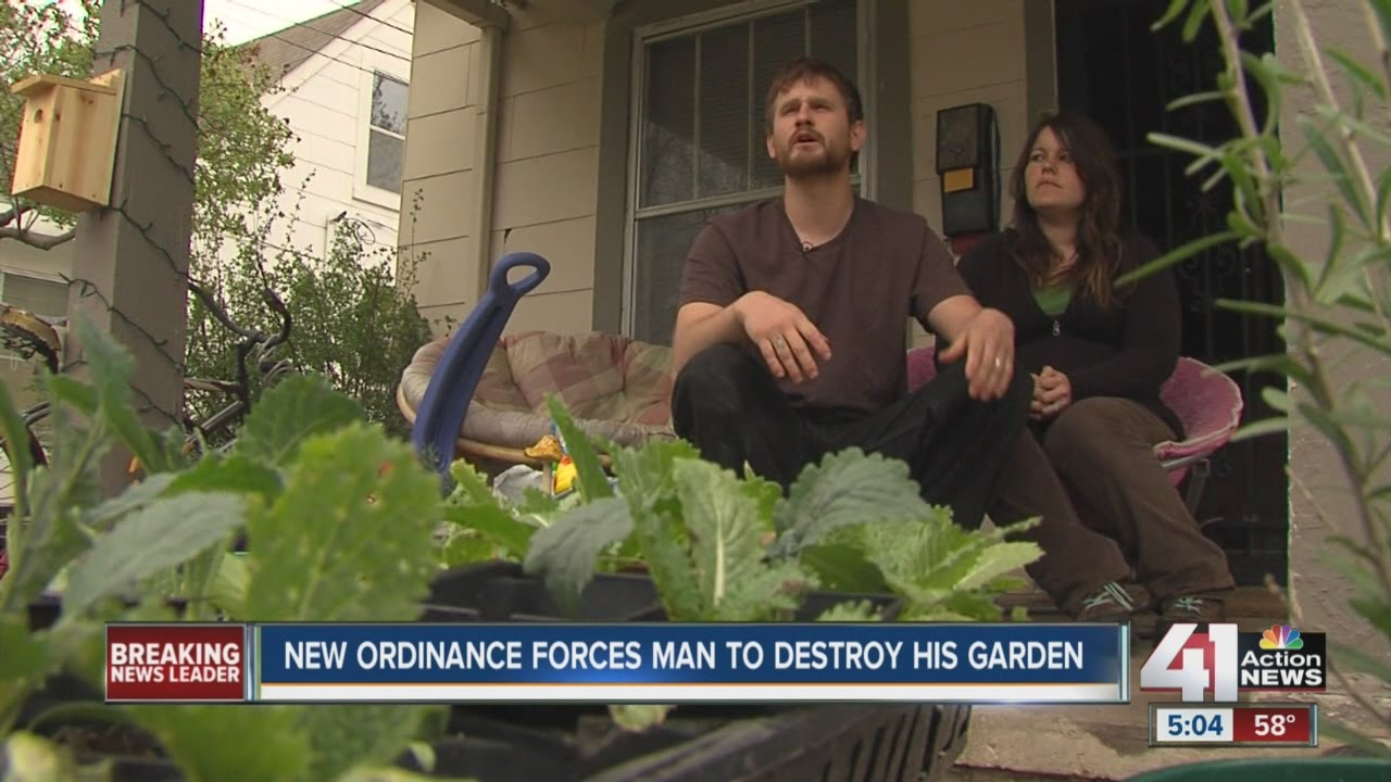 New ordinance forces man to destroy his garden