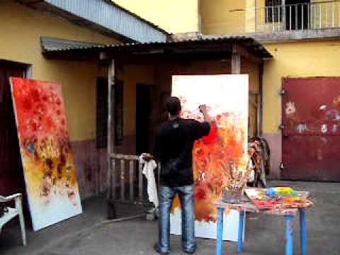 Henri Kalama Akulez painting 24.01.2010 part 1.AVI
