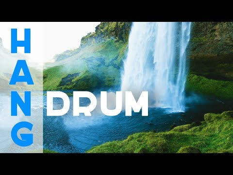 Relaxing Hang Drum Music ● Waterfall ● Music Video for Meditation, Stress Relief, Yoga, Massage, Spa