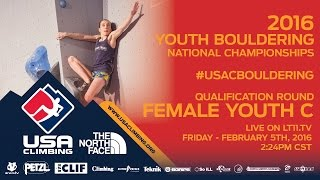 Female Youth C • Qualifiers • Friday February 5th 2016 • LIVE 2:24PM CST