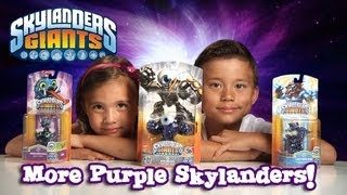 3 RARE METALLIC PURPLE SKYLANDERS! Eye Brawl, Wrecking Ball & Lightning Rod! ACTIVISION Mystery BOX