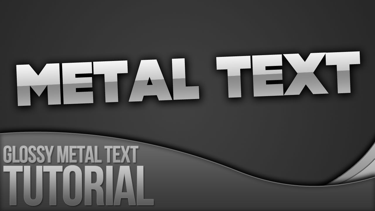 Photoshop tutorial creating glossy metal text youtube baditri Choice Image