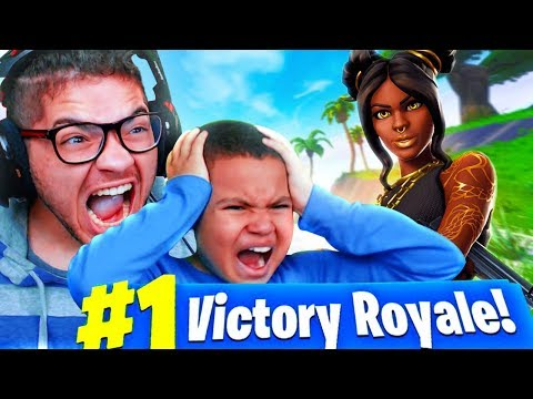 *NEW* TIER 100 SKIN IS OVERPOWERED!! LITTLE KID SQUEAKER BEATS EVERYONE! FORTNITE FUNNY MOMENTS