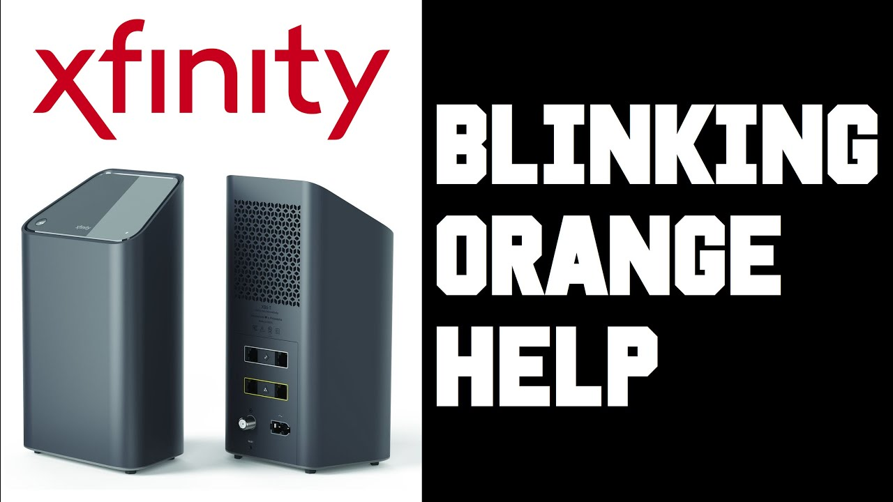 Xfi Blinking Orange How To Fix Xfinity Xfi Gateway Wifi Modem Router Blinking Orange Light Help Youtube