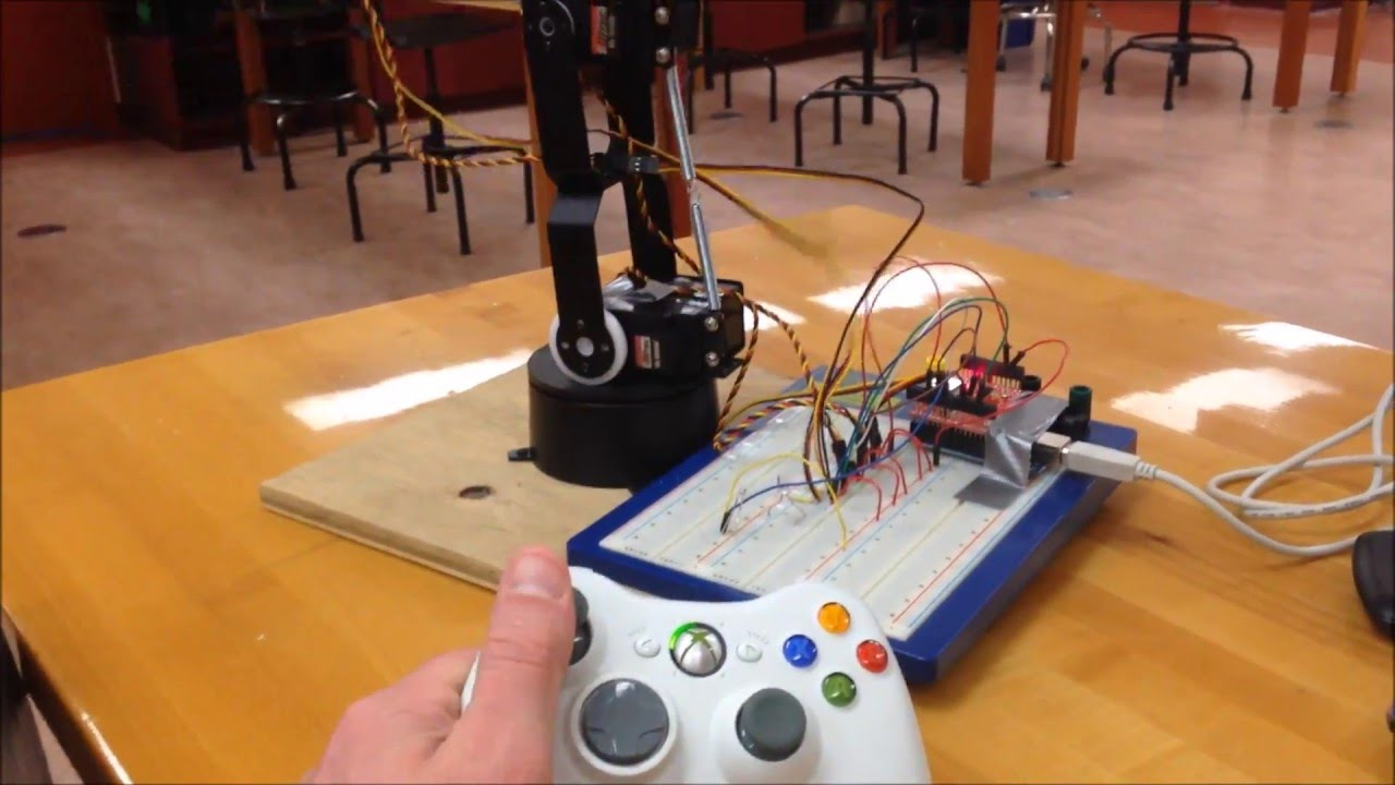 EASY Robot Arm with Arduino and Xbox 360 (intro)