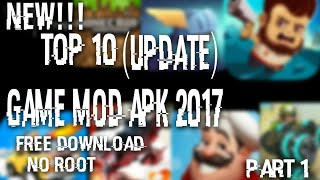 NEW!!TOP10(UPDATE)GAME MOD APK 2017 FREE DOWNLOAD+NO ROOT PART#1(, 2017-10-24T14:21:30.000Z)