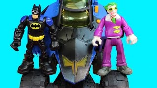 Fisher Price DC Super Friends Hero World Transforming Batmobile With Joker Funny Car Toy Story