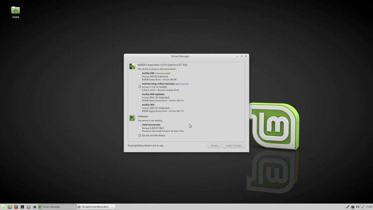 reinstall nvidia drivers linux mint
