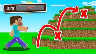 Minecraft BUT Jumping Is BANNED! (impossible)