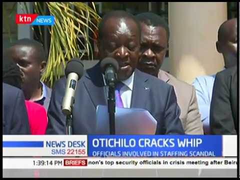 Governor Otichilo sacks health officials involved in a scam with the public service board