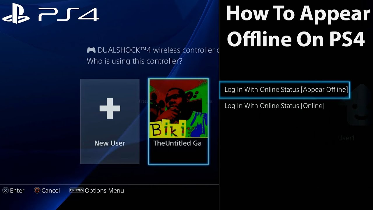 How To Appear Offline PS4 Menu Interface Tips & Trick PS4 Software 3