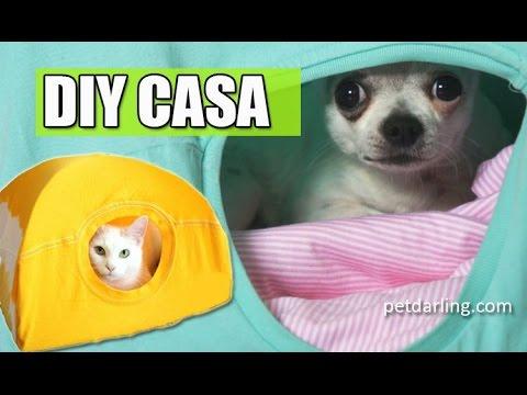Casa de gatos casa para gatos casera camiseta for Cama para perros