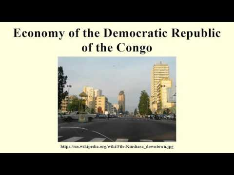 Economy of the Democratic Republic of the Congo