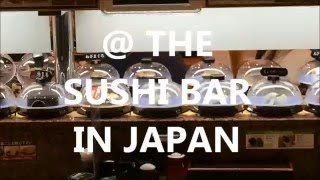 At the Sushi bar in Japan