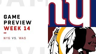 New York Giants vs. Washington Redskins | Week 14 Game Preview | NFL Playbook