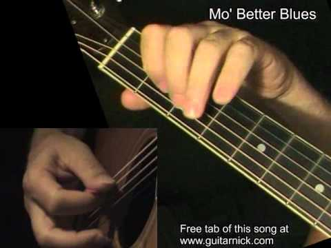 Mo Better Blues Acoustic Guitar Lesson Tab By Guitarnick Youtube
